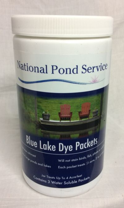 Blue Lake Dye Packet Pond Water Treatment