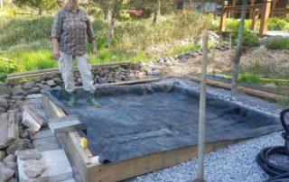 Biologic pond filtration system construction