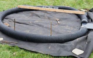 Pond Filter System Construction