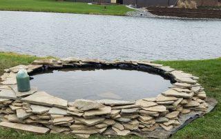 Biologic pond filtration system