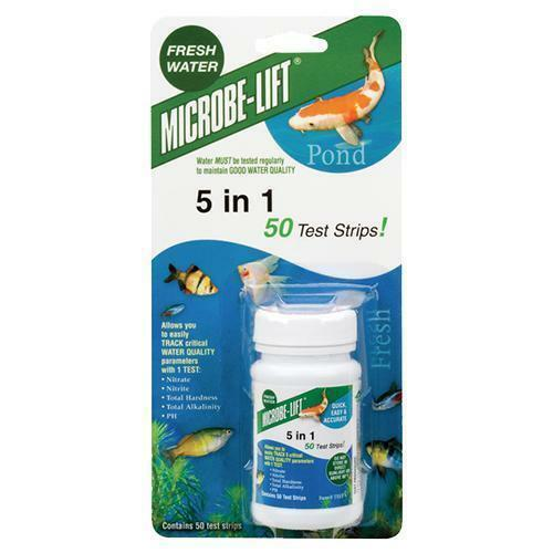 microbe lift 5-in-one pond water test strips