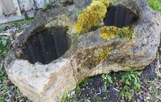 garden pond rock fountain